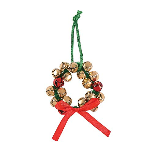 Fun Express Jingle Bell Wreath Christmas Ornaments Craft Kit 24 Count
