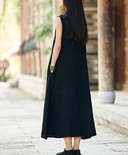 A Kleid Schwarz Damen Lazutom Linie ZqnB75