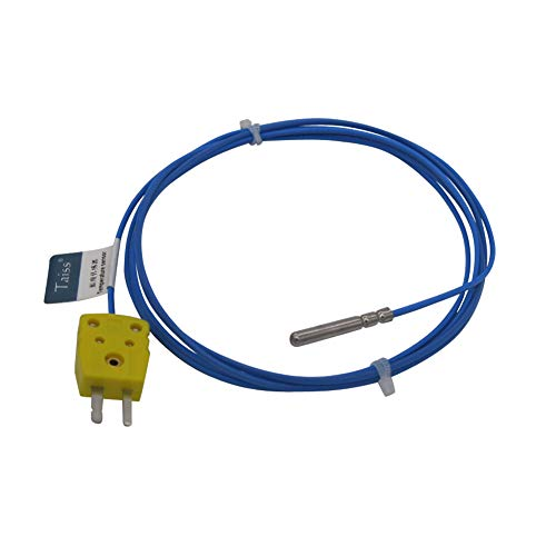 Thermocouple Probe - Waterproof K-Type Sensor Probes Metal HeadProbe for K-Type Probe Thermocouple Sensor & Meter Temperature Controller With plug, Long Probe (4×30MM) Temperature Range from -50 to 200 °C TA-6340-W-C
