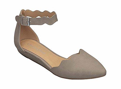 Città Classificate Donne Mary Jane Onde Laser Taglio Cinturino Alla Caviglia Laser Mini Sandali Con Zeppa Mve Scarpe In Pietra Nbpu