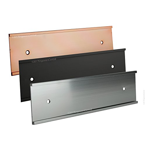 Wall Nameplate (Top selling 2x10 Office Wall or Door Mount Name Plate Holders - Fits Standard Size 2x10 NamePlates (Not included), 3 Color Options to choose from - Gold, Silver or Black.)