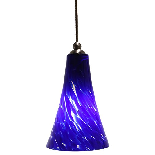 Direct-Lighting DPN-49249-BLUE Adjustable Mini Pendant Light, Blue Glass Shade