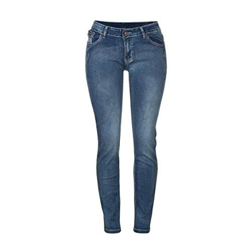 clair Skinny Jean Bleu Pantalon Familizo Femmes Slim Extensible Glissire g8p6pHxwq