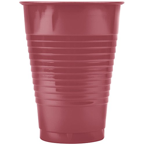 28177071 12 oz. Hot Magenta Pink Plastic Cup - 240/Case By TableTop King