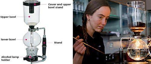 Yeme Coffee Master 5-Cup Syphon Vacuum Glass Coffee Make BT-5