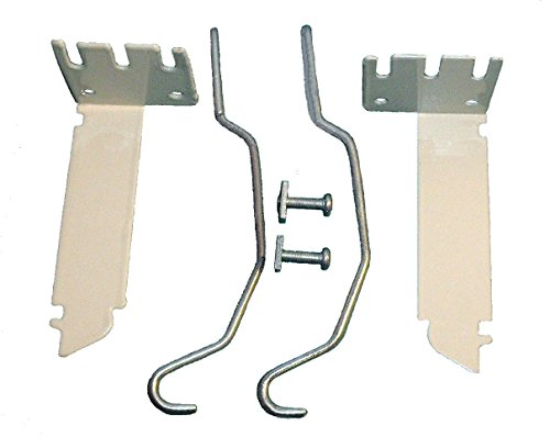 VALANCE CURTAIN ROD EXTENDER KIT ~ 1 Pair BRACKETS with 2 Wire CENTER ()