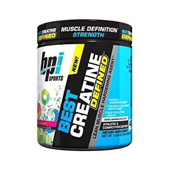 BPI Sports Best Creatine Defined Lean Muscle Hardening Agent, High Performance Monohydrate Powder, Sour Candy, 10.58 Ounce