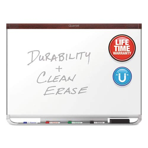 Prestige 2 DuraMax Porcelain Magnetic Whiteboard, 48 x 36, Mahogany, Sold as 1 Each ()