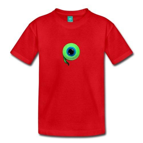 Spreadshirt Kids Jacksepticeye Eyeball T-Shirt, Red, Youth M