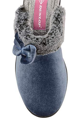 Antique Compensé Velours Femmes Chaussons Dunlop Bleu Rhoda 6qtXgTpa