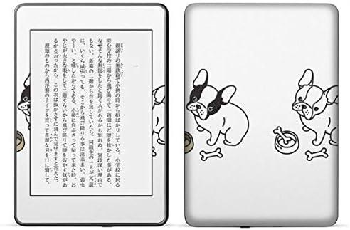 igsticker kindle paperwhite 第4世代 専用スキンシール キンドル ペーパーホワイト タブレット 電子書籍 裏表2枚セット カバー 保護 フィルム ステッカー 016464 犬 手書き おえかき