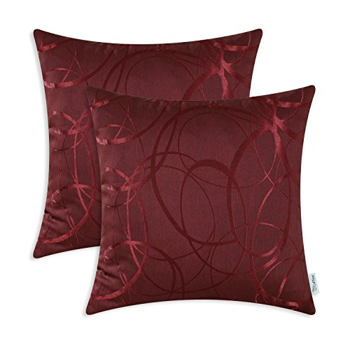 Throw Pillow Covers 18 X 18 Inches Both Sides,