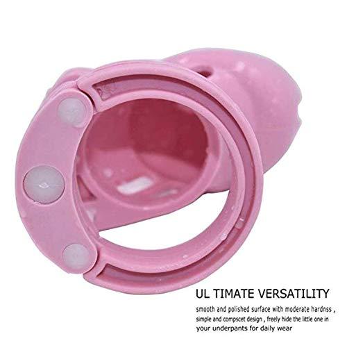 -44 5 sp/écifications Roo-16HAO Paragraphe Court pour Hommes Magnifique Dispositif de Cage de Protection en Silicone Rose