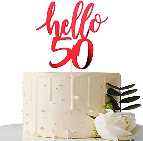 Decoración para tarta de 50 cumpleaños, 50 aniversarios ...