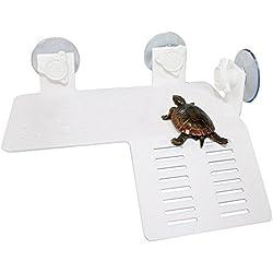 Aquarium Tank Reptile Turtle Pier Basking Terrace Floating Platform Dock White