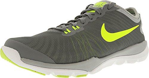 Nike Frauen Flex Supreme TR 4 Cross Trainer Cool Grey / Volt - Wolf Grau - Pure Platinum