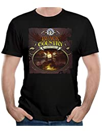 Men Black Country Communion Cool Short Sleeve Top T-Shirt Young Vintage T Shirt