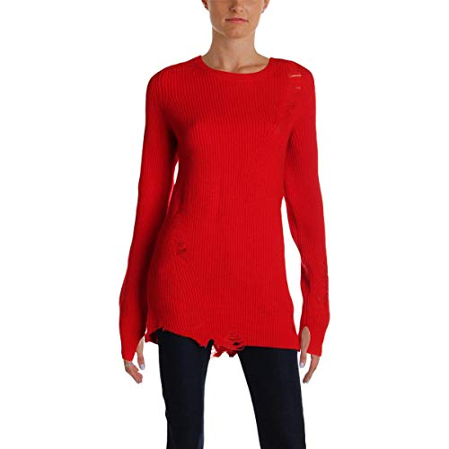 - Helmut Lang Womens Wool Cashmere Crewneck Sweater Red M