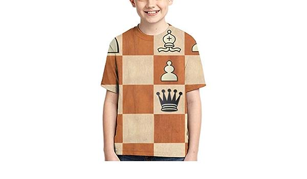 Camisetas para niños Ajedrez Tablero de ajedrez Camisetas de ...