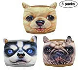 (Pack of 3) Fashionable Reusable Washable Dust, Allergy, Flu Mask-Protecting Respiratory System from Dust, Allergy, Pollen, Dander, Germs, Cold & Flu, Mold Allergens, Mold Spores
