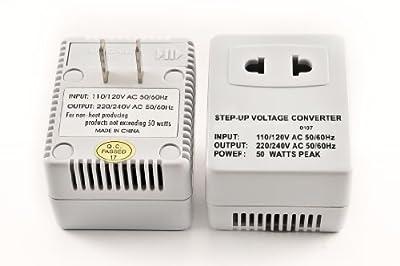 Simran SM250F SM-250F Voltage 110 Volt Electrical Converter 110v, White