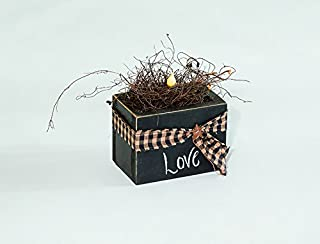 product image for Rustic Primitive Country Decorative Lighted Candle in a Box Amish Made USA-Mustard