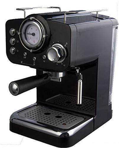 Macchina Caffe Macinato con Termometro Arielli KM-501B Espresso/Cappuccino 1/2 tazze 1100W 15bar 1.25L Nera