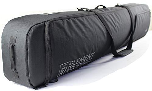 Element Equipment Deluxe Padded Snowboard Bag – Premium High End Travel Bag 165 Black NanoWeave Ripstop