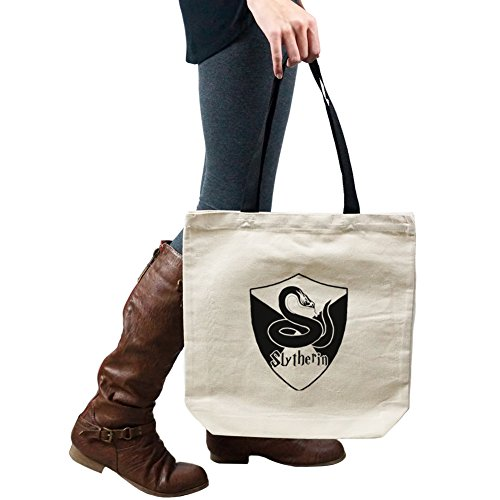 Hogwarts HP Slytherin House Snake Shield Tote Handbag Shoulder Bag Purse ()