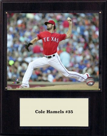 (C&I Collectables MLB Texas Rangers Cole Hamels Player Plaque, 12