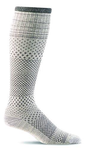 Sockwell Women's Micro Grade Graduated Compression Socks, Natural, Medium/Large