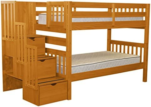 home, kitchen, furniture, bedroom furniture, beds, frames, bases,  beds 9 discount Bedz King Stairway Bunk Beds Twin over Twin deals