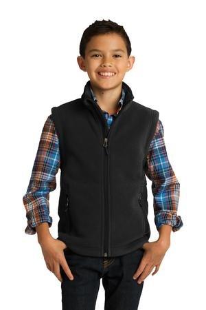 Youth Value Fleece Vest. Y219 M True Navy (Navy Fleece Vest)
