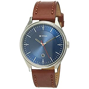 Titan Analog Blue Dial Men's Watch-1834SL02 / 1834SL02