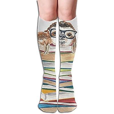 Tube High Socks Keen Sock Book Sloth In Glasses Boots Compression Long Stockings For Athletics,Travel Socks - Sloth Socks