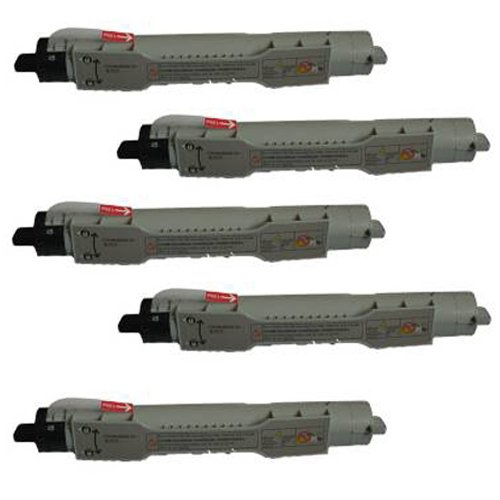 Image of Amsahr 310-5807 Dell 310-5807, 5100cn Remanufactured Replacement Toner Cartridge, Set of Five, Black Laser Printer Drums & Toner