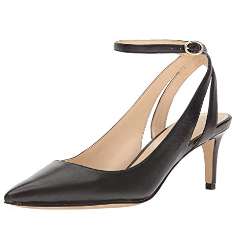 Energyers Women Shoes Pointed Toe Pumps Cut Out Kittens Ankle Strap Med Heels Slingback Stiletto Dress Casual Shoes