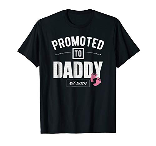 Mens Vintage Promoted to Daddy Its a Girl 2019 New Dad shirt