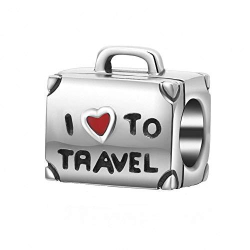 ABUN I Love To Travel Charm...