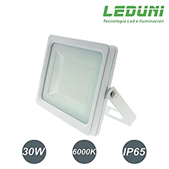 LEDUNI ® Foco Ultrafino Proyector 30W LED Exterior Luz Blanca Fría ...