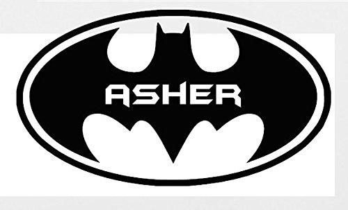 Amazon Personalized Batman Logo Custom Name Text Wall Art Decor