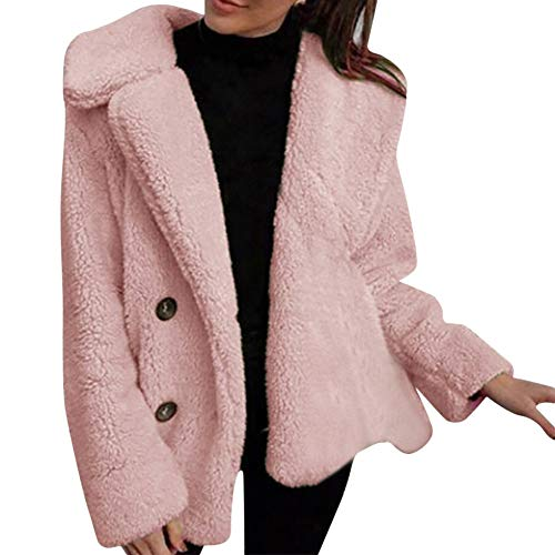 Women Winter Coat Warm Long Sleeve Parka Coat Oversize Overcoat Cardigan Pea Coat -