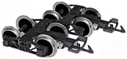 f/ür 4 achsiger LGB G/üterwagen,Spur Zenner 2 Drehgestelle mit Edelstahlscheibenrads/ätzen