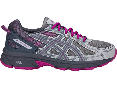 ASICS Women's Gel-Venture 6 MX Running Shoes, 9M, MID Grey/Purple SPEC