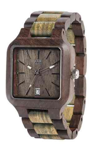 WeWood Metis Chocolate/Army Wooden Watch