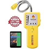 Y201 Propane and Natural Gas Leak Detector; Portable Gas Sniffer to Locate Gas Leaks of Combustible Gases Like Methane, LPG, LNG, Fuel, Sewer Gas; w/Flexible Sensor Neck, Sound & LED Alarm, eBook