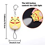 Personal Alarm,Bear Gentleman 130db Emergency Safe Sound Self Defense Cute Keychain Security Panic Button for Women Kids Students Elderly(Lucky Cat,Yellow)