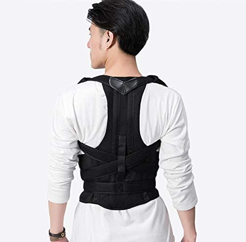 背中と腰のサポートのための調節可能な背中の姿勢補正器 - フルバックブレース肩の姿勢補正 - 姿勢の改善、すべりの防止、痛みの軽減 (Size : S)