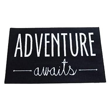 Adventure Awaits Door Mat 2x3 - Black