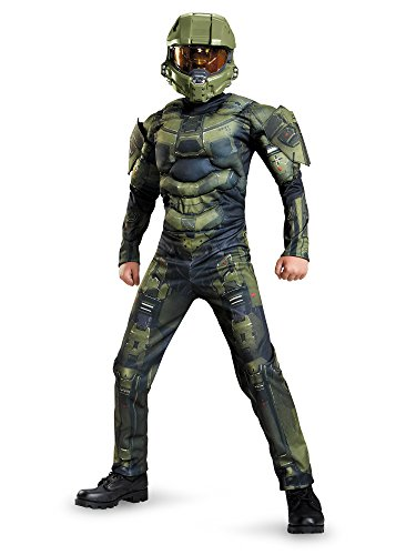 (Master Chief Classic Muscle Costume, Large)